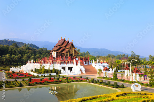 Royal pavilion in royal flora park, Chiang mai, Thailand
