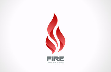 Fire Flame vector logo design. Tongues of flame creative icon