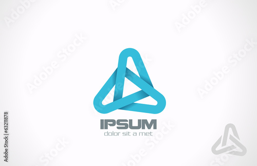 Triangle abstract vector logo design. Business Corporate icon