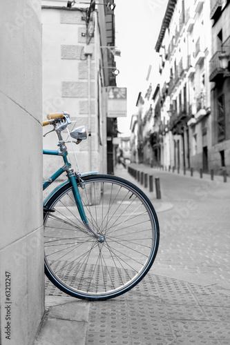 Spoed canvasdoek 2cm dik Amsterdam rueda de bicicleta