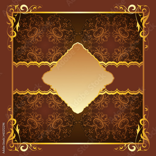 Royal frame with elegant brown background