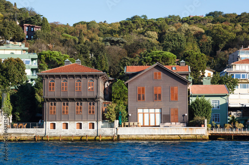 Traditional and modern mansions on the Bosporus
