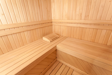 Wooden scandinavian sauna room