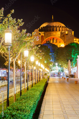 Hagia Sophia and the alley with lanterns