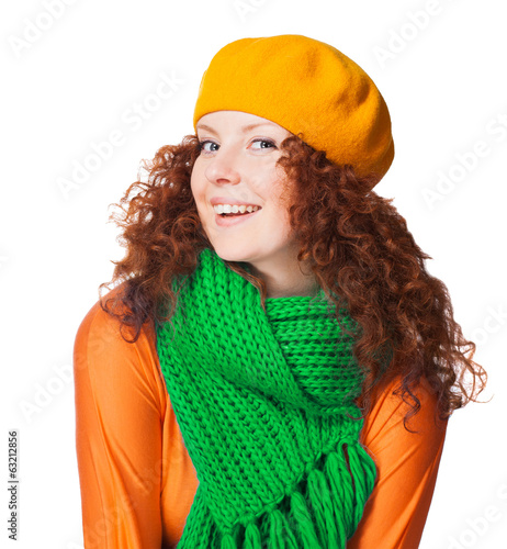 Gorgeous girl in warm clothing
