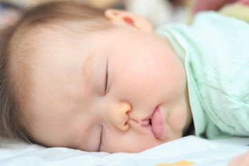 Newborn baby sleeping
