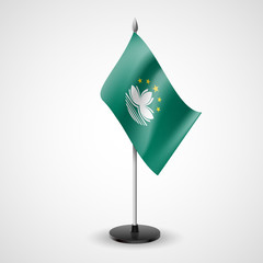 Table flag of Macau