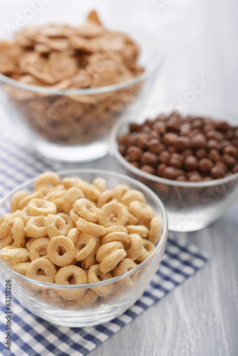 Various breakfast cereals