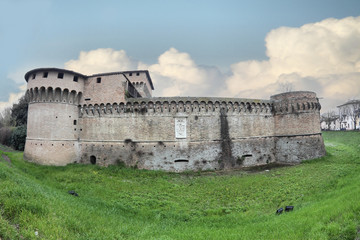 the Rocca di Ravaldino in Forli, Italy