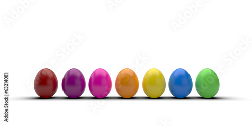 easter egg isolated with beautiful color