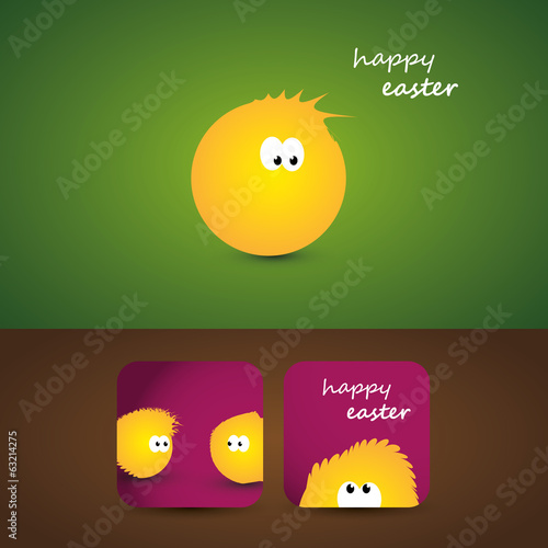 Easter Card with Little Chickens Design