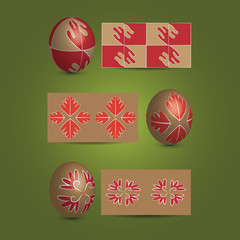 Easter Eggs and Ornamental Patterns
