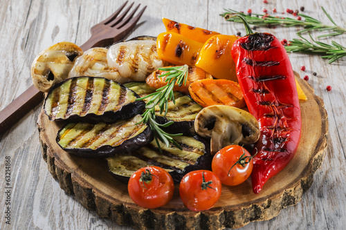 Plexiglas Groenten grilled vegetables