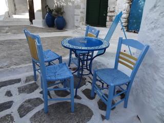 Terrasse en Grèce