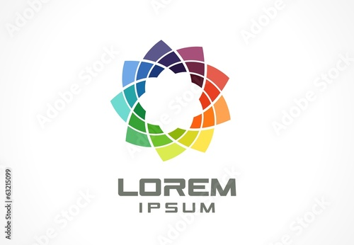 Icon design element. Abstract logo idea for business company.