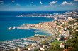 Panoramic view on Sanremo, Italy.