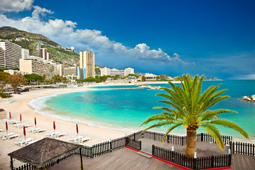 Beautiful Monte Carlo beaches, Monaco.