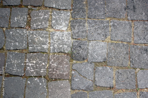 distressed stone pavement