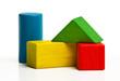 toy wooden blocks, multicolor building construction bricks