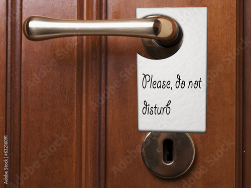 Please, do not disturb