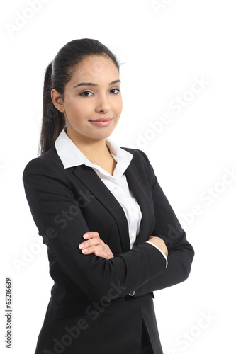 Confident happy business woman posing