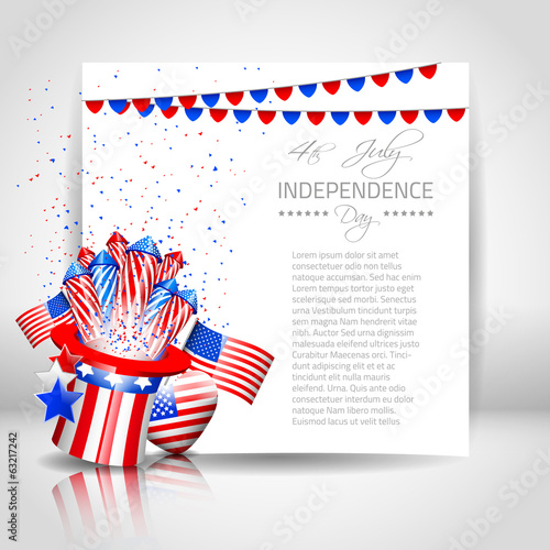 Independence Day Background with Paper - Vector