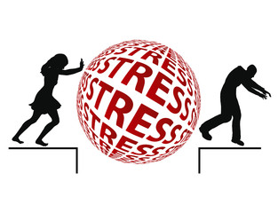 Stress Reduction by chasing the partner