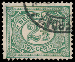 NETHERLANDS - CIRCA 1899: A stamp printed in the Netherlands