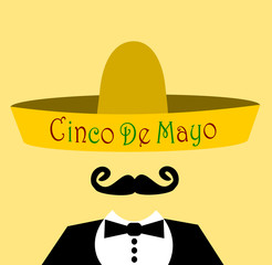 man wearing cino de mayo sombrero