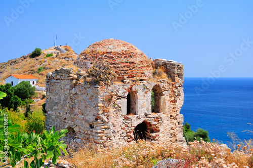 Medieval ruins on Kastro, Skiathos, Greece