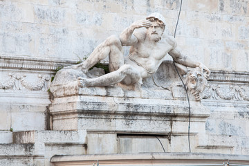 Fontane dei due Mari, Mar Adriatico. Vittoriano, Roma