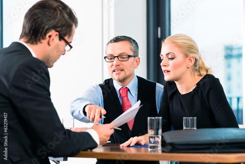 Business - Vorstellungsgespräch für Bewerbung