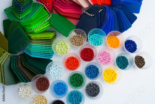 Leinwandbild Motiv plastic polymer granulate