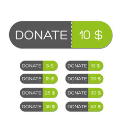 Donate green button set