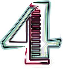 font illustration NUMBER 4