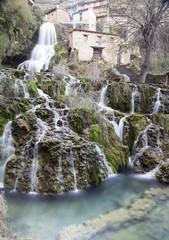 waterfall in orbaneja del castillo