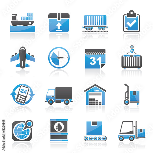 Logistic and Shipping icons - vector icon set