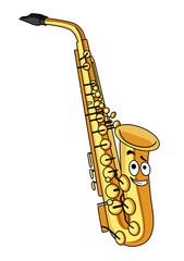 Cartoon brass saxophone