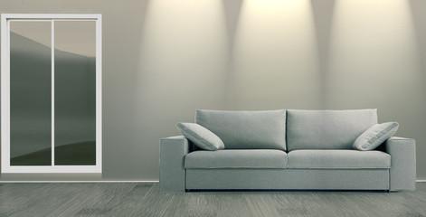 Interior con el sofá