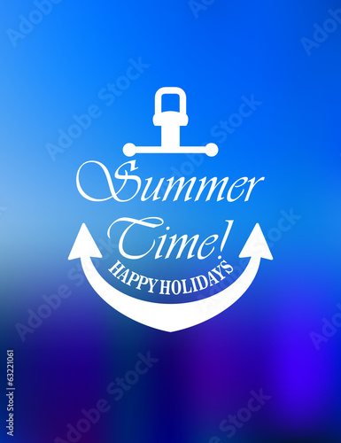 Summer time poster design