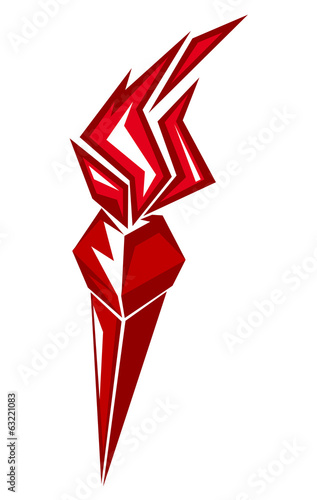 Red stylized torch