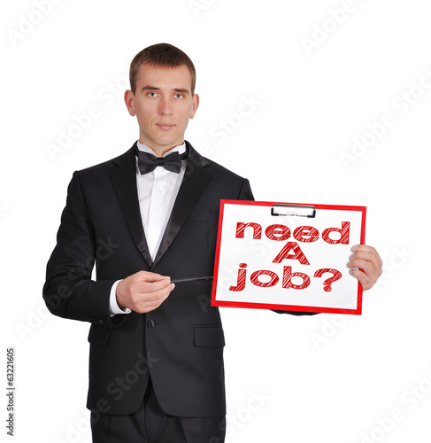 clipboard with need a job