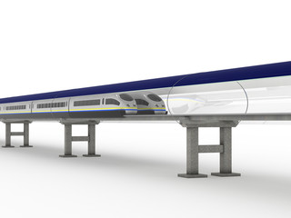 Magnetic levitation train with solar panels #2