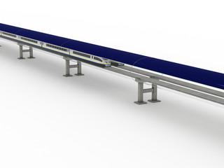 Magnetic levitation train with solar panels #1