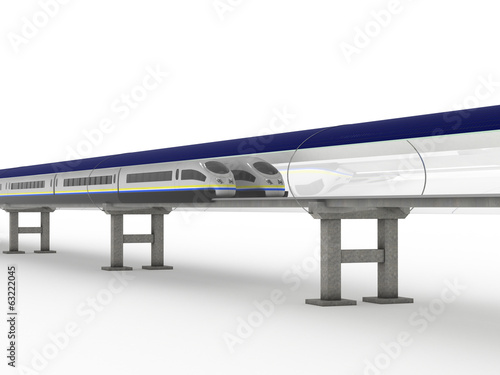 Magnetic levitation train with solar panels #2