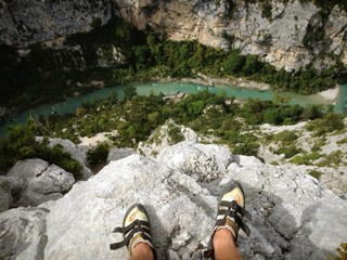 climb the verdon gorge
