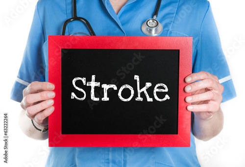 Stroke- Physician with chalkboard