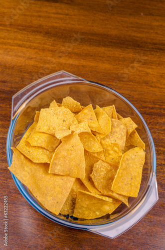 nachos ready to serve in a bowl