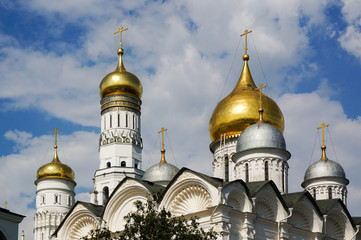 Domes of The Archangel's Cathedral and The Ivan the Great Bellto