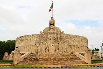 Merida. Monument to the Fatherland, Yucatan, Mexico